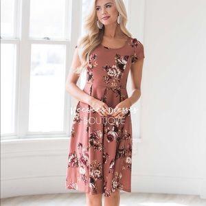 Mauve Floral Neesee's Mikarose Dress